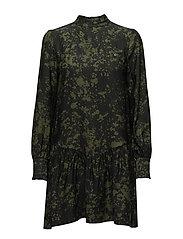 ALIN DRESS - GREEN SPLASH