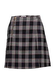 SAYOKO SKIRT - BLUE RED CHECK
