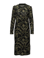 JANNY DRESS - GREEN ARMY