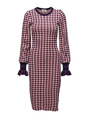 CORINDA - ROSE PURPLE HOUNDSTOOTH