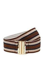 LUANA - BROWN CREAM BLUE STRIPE