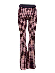 CONNIE - ROSE PURPLE HOUNDSTOOTH