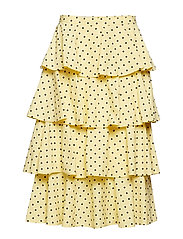 SCARLET - LEMON BLUE POLKA DOT