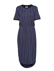 JUNE - NAVY CREAM PINSTRIPE