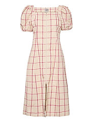 AHELI - OYSTER GREY PINK CHECK