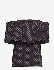 Baum und Pferdgarten - MONIQ - blouses à manches courtes - peacoat abricot dot - 0