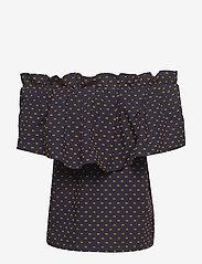 Baum und Pferdgarten - MONIQ - blouses à manches courtes - peacoat abricot dot - 1
