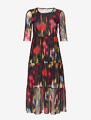 Baum und Pferdgarten - JONES - do kolan & midi sukienki - black floral blur - 0
