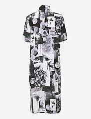 Baum und Pferdgarten - ANGIE - sommerkjoler - black floral collage - 2