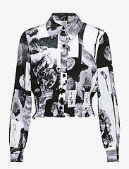 Baum und Pferdgarten - MAEKO - langærmede skjorter - black floral collage - 1