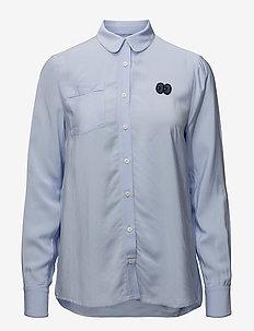 MAGDALENA - langærmede skjorter - brunnera blue