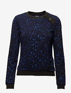 JAIMA - sweatshirts - blue leopard