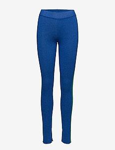 CARYS - leggings & tights - blue lurex