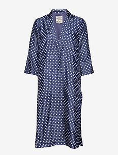 BIAN - manteaux legères - blue cream polka dot