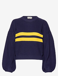 CELESTE - jumpers - blue yellow knit