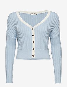 CARLEIGH - cardigans - cashmere blue