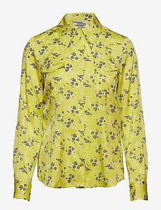 MARJANI - langærmede skjorter - lemon blue blossom