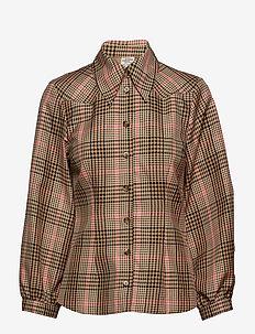 BONNY - langærmede skjorter - camelpinkcheck