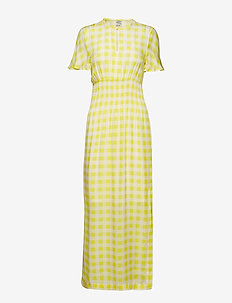 ABERDEEN - robes longues - creamy lemon check