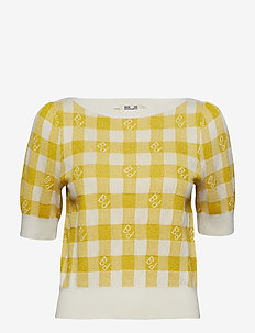 CHLOE - t-shirty - creamy lemon check