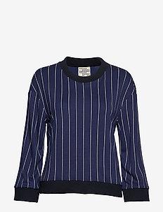 JANNET - sweatshirts - navy cream pinstripe