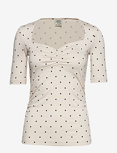 JOULEE - t-shirts - dotty red
