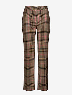 NYDIA - wide leg trousers - camelpinkcheck