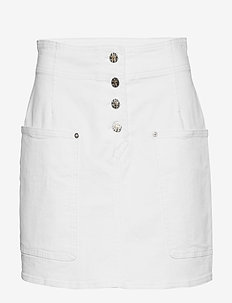 SHANNON - denim skirts - white denim