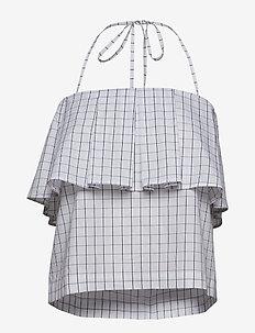 MICHEALA - topy bez rękawów - peacoat grid