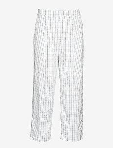 NAGIHAN - pantalons larges - peacoat grid