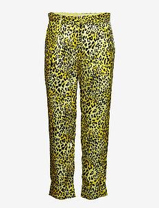 NARETHE - straight leg trousers - lemon leo