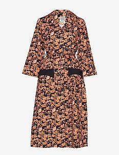 ANNY - skjortekjoler - peachblack floral
