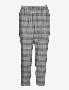NAIOMI - straight leg trousers - grey check