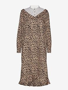 ADALINE - skjortekjoler - beigeblack leo