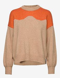 CIRKELINE - jumpers - camel n orange