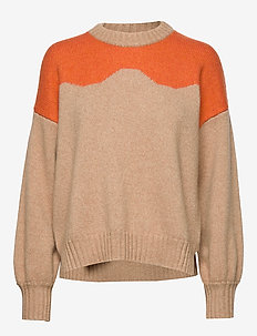 CIRKELINE - pulls - camel n orange