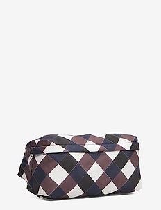 KIVO - skuldertasker - navybrown check