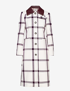 DESMA - trench coats - creamywine check