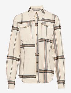 MAAIKE - langærmede skjorter - off white check