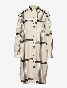 AGATHA - skjortekjoler - off white check