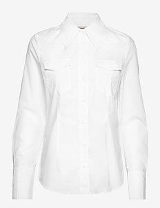 MICHELINE - langærmede skjorter - snow white
