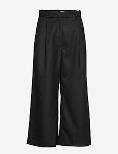 NILINA - bukser med brede ben - black