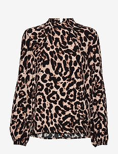 MEI - long sleeved blouses - wild leopard