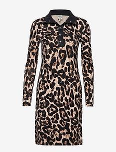 JAGGER - midi dresses - beige wild leopard