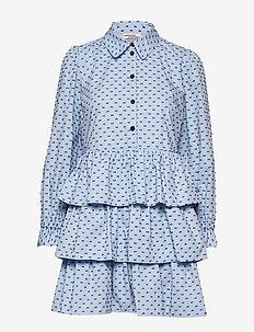 ANYA - skjortekjoler - browninblue dots
