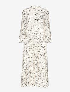 AIA - skjortekjoler - creamblack flying dots