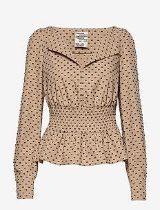 MATEA - long sleeved blouses - blackincamel dots