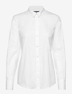 MAGDA - langærmede skjorter - white