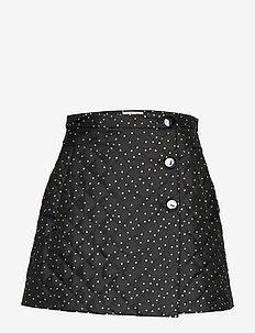 SHERIDAN - short skirts - blackstraw flying dots