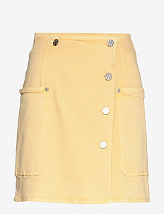 SANDY - short skirts - straw yellow